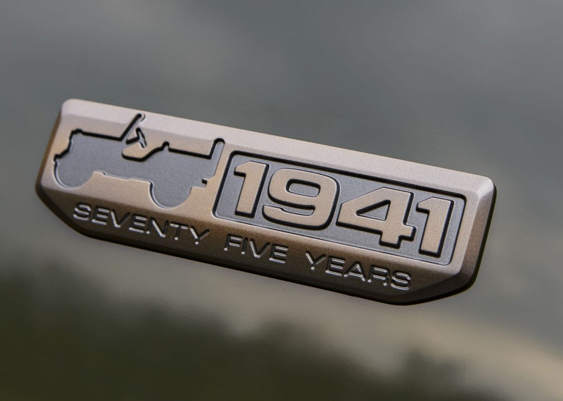 2016 Jeep 75th Anniversary edition badge