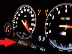 BMW M5 F10 347 km/h Police Chase