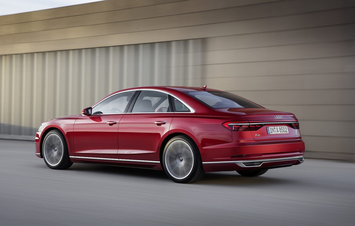 Audi A8 in Volcano Red