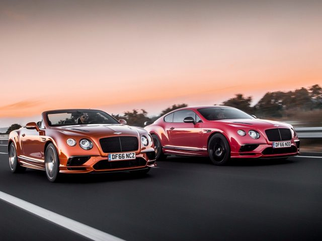 Bentley Continental Supersports Coupé en Convertible