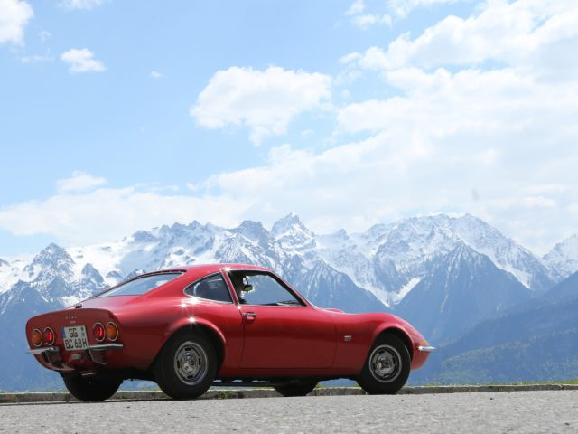 Simply breathtaking: The Opel GT can be admired during the Bodensee-Klassik in early May.