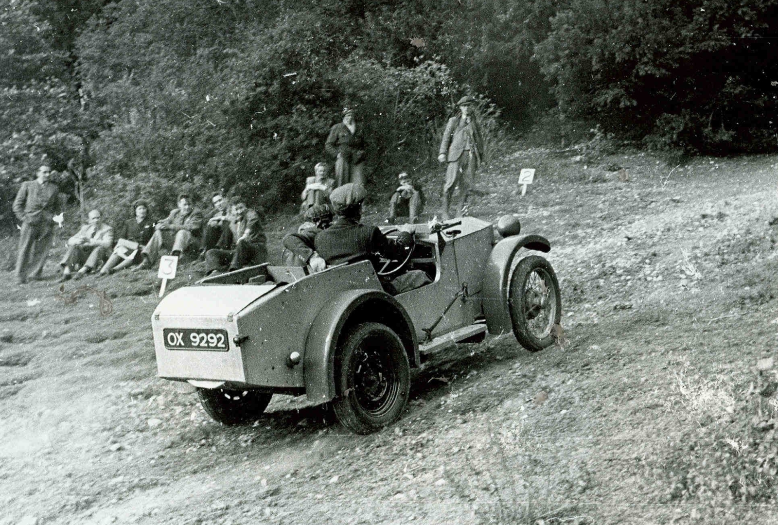 Hazel Chapman in the Lotus Mark I. Copyright the Colin Chapman Foundation